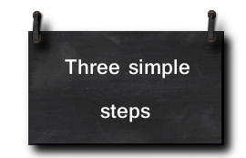 Three steps only