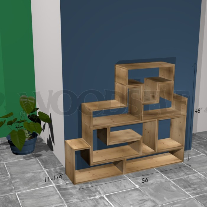 Tetris shelf - woodworking plan