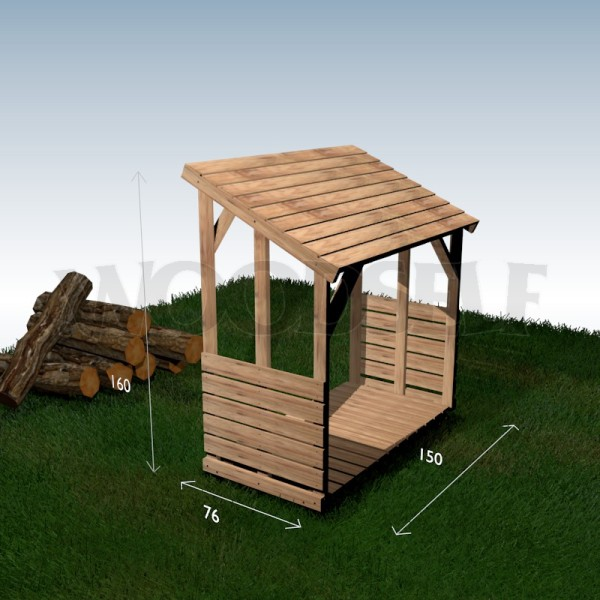 Click here to see a wood shelter in 3D Hide the 3D window
