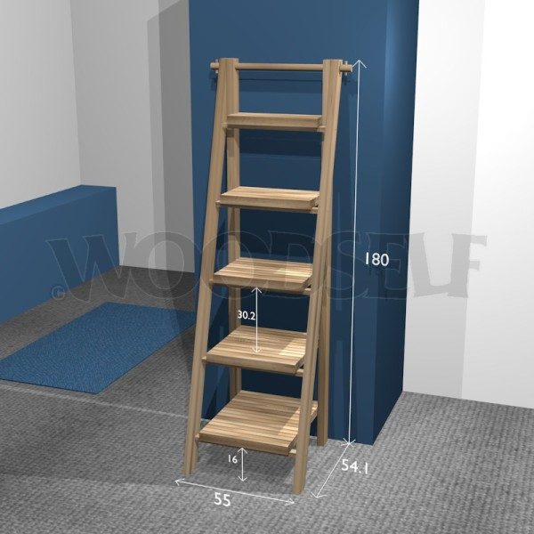Ladder Shelf Woodself Free Plans For Woodworking