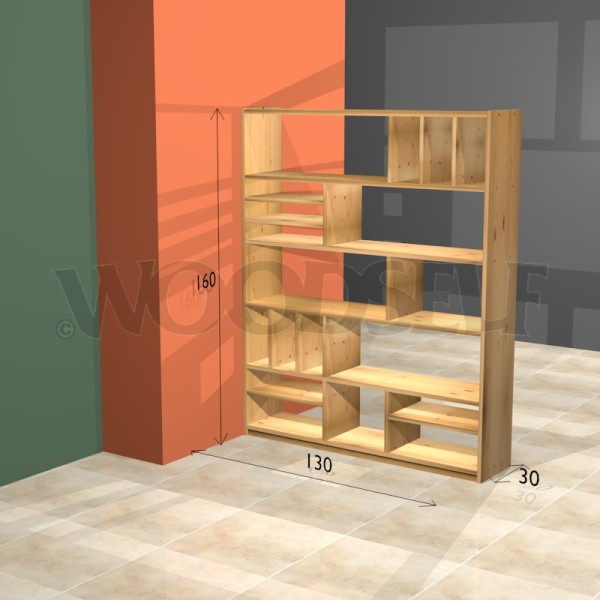 Download room divider bookcase plans plans free - Bookshelves as room divider ...