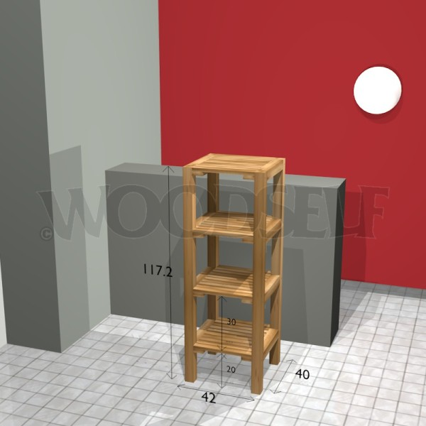Bathroom shelf - Woodself - Free plans for woodworking