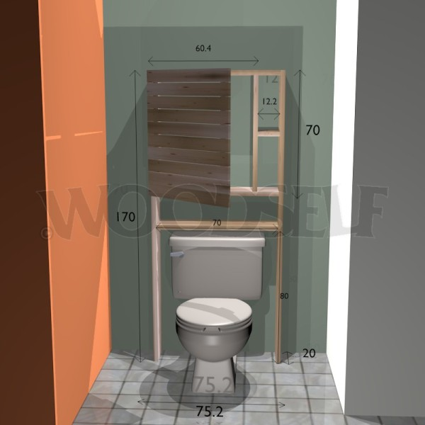 Over toilet cabinet - woodworking plan