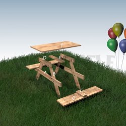 Picnic table for children