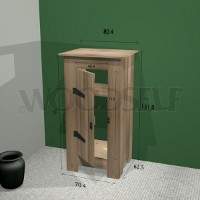 Cabinet without back Woodself