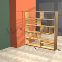 Room divider bookshelf Woodself