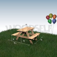 Picnic table for children Woodself